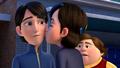Adventures in Trollsitting - Claire kisses Jim