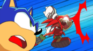 Knuckles saves Sonic from getting hit - Team Sonic Racing Overdrive