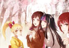 Mahiru, Hiyoko, Ibuki and Mikan Fan Art by Yukifuru01