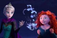 Elsa and Merida by thesegirlsareperfectprincesses