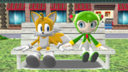 Tails and Cosmo in the Park
