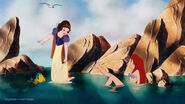 Snow White and Ariel by bigender-mermaids 3