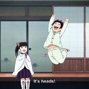 Tanjiro happy about Kanao