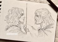 Geralt and Renfri by Witcher News on Tumblr