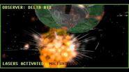 Tachyon Laser Mining Beam Activation and Destruction