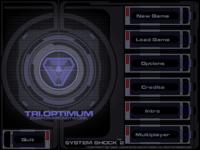System Shock 2 main menu