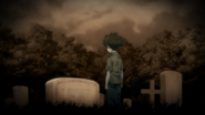 Little Asahi at his mother's funeral (Ending 7)