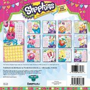 Shopkins 2016 calendar back