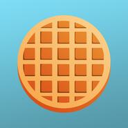 Waffle badge