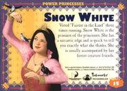 Snow White trading card back