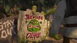 Shrek swamp sign beware ogre