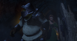 Shrek breaks door tower