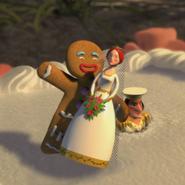 Gingerbread man dances fiona cake