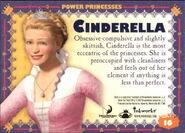 Cinderella trading card back