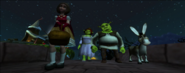 Shrek princess fiona little red riding and donkey