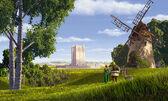 Shrek fiona windmill duloc