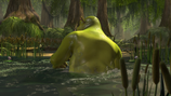 Shrek swamp bath pond