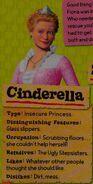 Cinderella's description from the Shrek 4 handbook