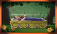 Snow White painting magic mirror