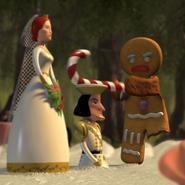 Gingerbread man hits farquaad cake