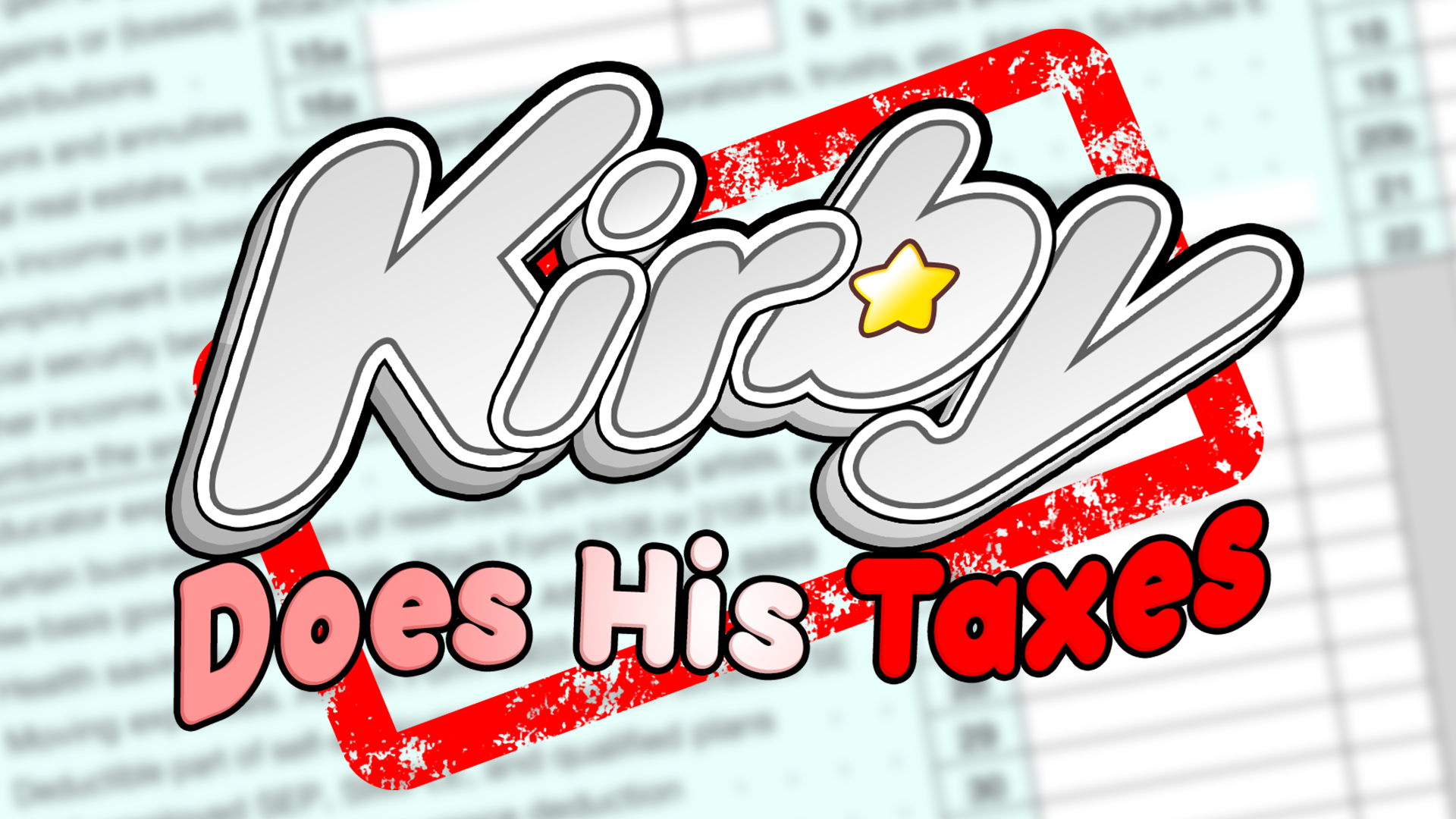 Dream to Return Land - Kirby Does His Taxes