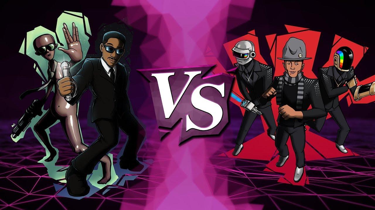 MEN IN BLACK vs. DAFT PUNK ft. PHARRELL (W R1, M10) - SiIvaGunner: King for Another Day