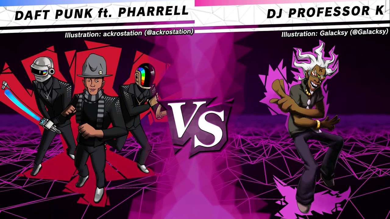 DAFT PUNK ft. PHARRELL vs. DJ PROFESSOR K (W R4 M2) - SiIvaGunner: King for Another Day