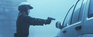 Cybil tells Rose to step out of the car