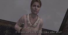 I'll never hurt you like she did.