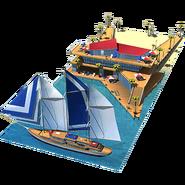 Icon-sailing boat pier