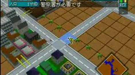 Simcity 64 First launch and Gameplay 64DD