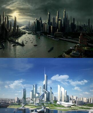 From Top to Bottom: Skyline; City Council District