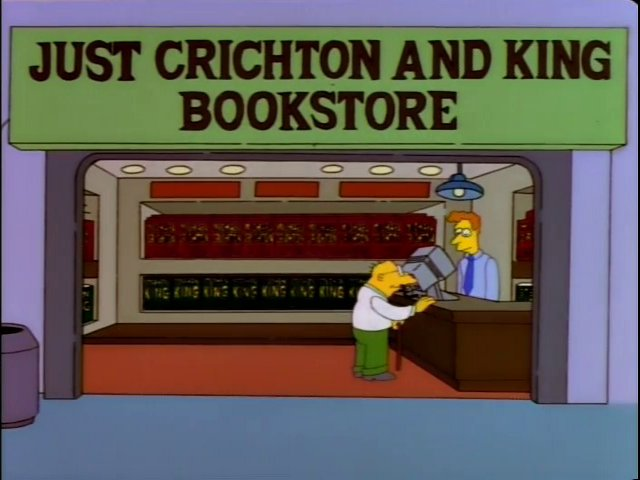 Just Crichton and King Bookstore