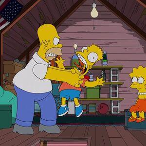 Homer Strangles Bart Or Someone Simpsons Wiki Fandom