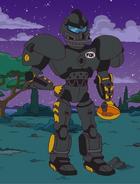Cletus the football robot