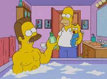 Flanders banheira homer maggie