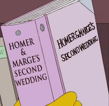 Homer & Marge's Second Wedding