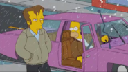 Homer finds Wayne walking in the rain