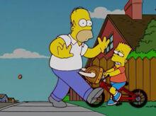 Homer bart bicicleta chifres