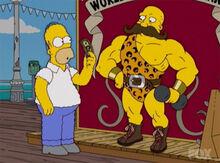 Homer robusto dinheiro peso