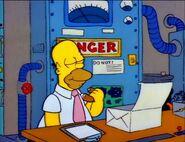 Homer eating a donut
