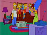 Clothesline couch gag