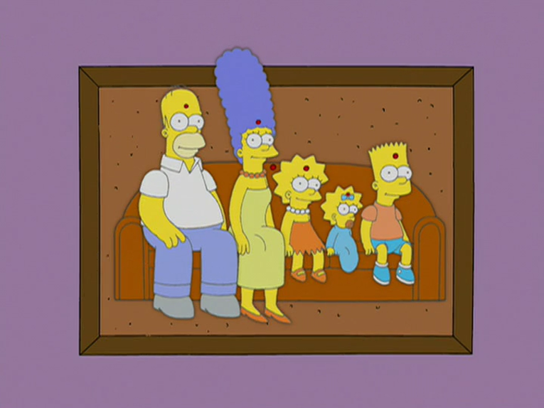 Bulletin Board Family couch gag