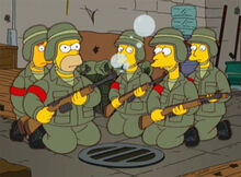 Homer rifle bolhas sabão
