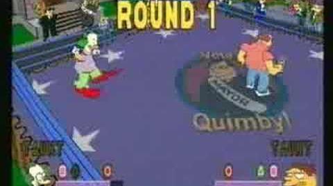 Simpsons Wrestling game