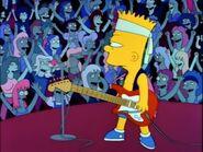 Bart as a punk rocker