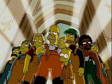 Homer e os pescadores a salvo