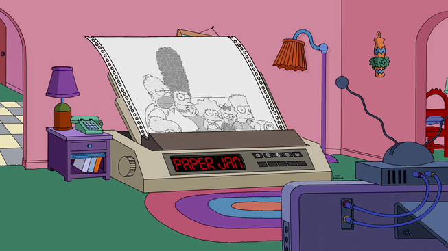 Fax Machine couch gag II