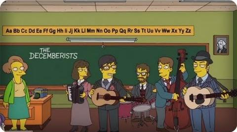 """Indie Rock On from """"The Day The Earth Stood Cool"""" The Simpsons Animation on FOX"""