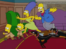Homer marge 40 fugir cães